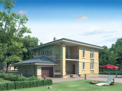 Проект двухэтажного дома 15x13 метров, общей площадью 208 м2, из газобетона (пеноблоков), со вторым светом, c гаражом, котельной и кухней-столовой