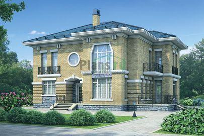 Проект двухэтажного дома 15x13 метров, общей площадью 216 м2, из газобетона (пеноблоков), со вторым светом, c котельной и кухней-столовой