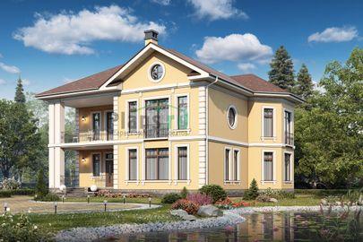 Проект двухэтажного дома 15x15 метров, общей площадью 239 м2, из керамических блоков, c котельной и кухней-столовой