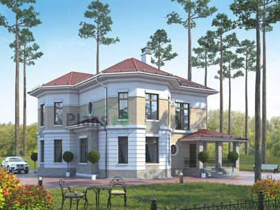 Проект двухэтажного дома 15x16 метров, общей площадью 190 м2, из кирпича, c котельной и кухней-столовой