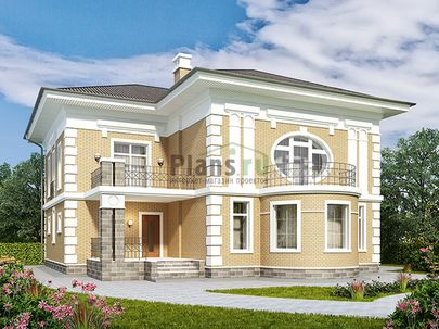 Проект двухэтажного дома 15x16 метров, общей площадью 252 м2, из керамических блоков, c террасой, котельной и кухней-столовой