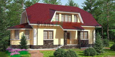 Проект двухэтажного дома 15x7 метров, общей площадью 144 м2, из кирпича, c котельной и кухней-столовой