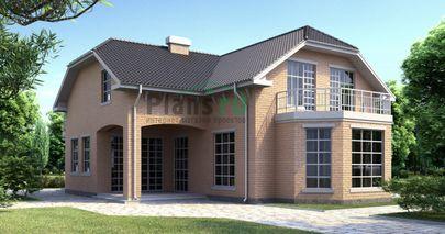 Проект двухэтажного дома 16x12 метров, общей площадью 212 м2, из керамических блоков, со вторым светом, c котельной и кухней-столовой