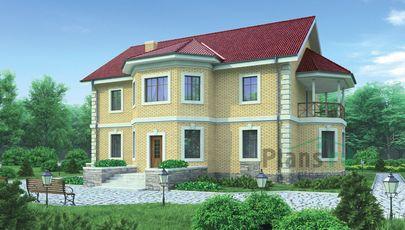 Проект двухэтажного дома 16x14 метров, общей площадью 228 м2, из керамических блоков, c котельной и кухней-столовой