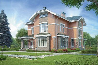 Проект двухэтажного дома 16x14 метров, общей площадью 248 м2, из газобетона (пеноблоков), c котельной и кухней-столовой
