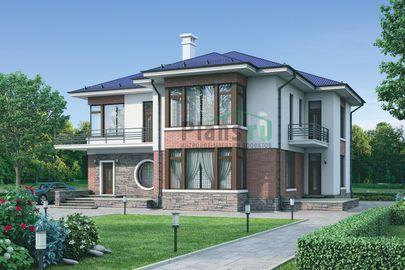 Проект двухэтажного дома 16x15 метров, общей площадью 271 м2, из керамических блоков, c котельной и кухней-столовой