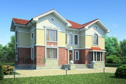 Проект двухэтажного дома 16x15 метров, общей площадью 281 м2, из керамических блоков, c котельной и кухней-столовой