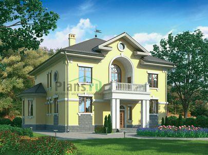 Проект двухэтажного дома 16x16 метров, общей площадью 299 м2, из керамических блоков, c котельной и кухней-столовой