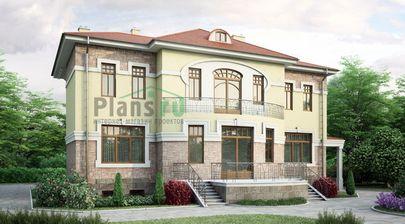 Проект двухэтажного дома 17x11 метров, общей площадью 369 м2, из керамических блоков, c террасой и кухней-столовой