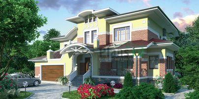 Проект двухэтажного дома 17x12 метров, общей площадью 264 м2, из керамических блоков, c гаражом и котельной