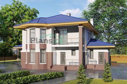 Проект двухэтажного дома 17x13 метров, общей площадью 226 м2, из кирпича, c террасой, котельной и кухней-столовой