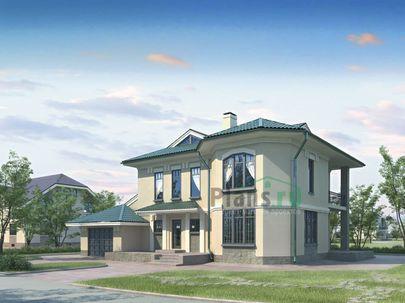 Проект двухэтажного дома 17x13 метров, общей площадью 246 м2, из газобетона (пеноблоков), c гаражом, котельной и кухней-столовой