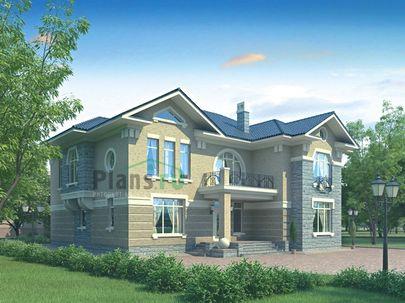 Проект двухэтажного дома 17x16 метров, общей площадью 295 м2, из керамических блоков, c котельной и кухней-столовой