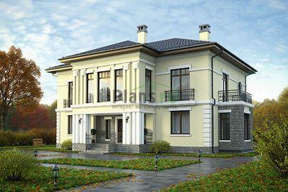 Проект двухэтажного дома 17x17 метров, общей площадью 286 м2, из керамических блоков, c котельной и кухней-столовой