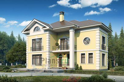 Проект двухэтажного дома 17x19 метров, общей площадью 260 м2, из керамических блоков, c котельной