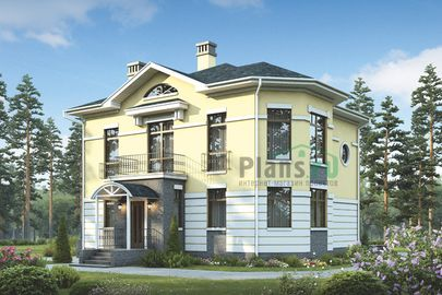 Проект двухэтажного дома 18x12 метров, общей площадью 179 м2, из керамических блоков, c котельной и кухней-столовой