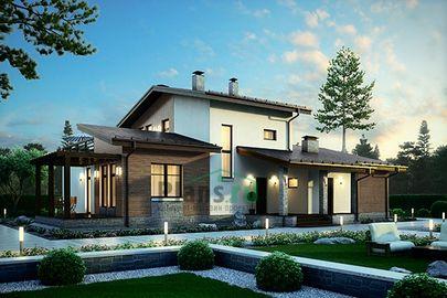 Проект двухэтажного дома 18x12 метров, общей площадью 188 м2, из керамических блоков, c котельной и кухней-столовой