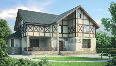 Проект двухэтажного дома 18x15 метров, общей площадью 288 м2, из керамических блоков, c котельной и кухней-столовой