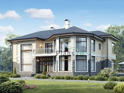 Проект двухэтажного дома 18x15 метров, общей площадью 292 м2, из керамических блоков, c котельной и кухней-столовой