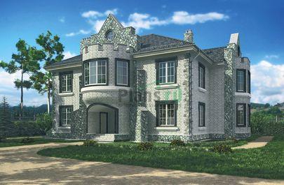 Проект двухэтажного дома 18x15 метров, общей площадью 292 м2, из керамических блоков, со вторым светом, c котельной и кухней-столовой