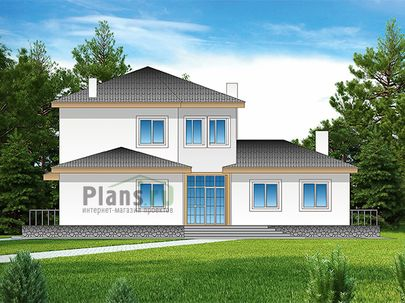 Проект двухэтажного дома 18x16 метров, общей площадью 251 м2, из керамических блоков, c котельной и кухней-столовой