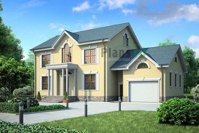 Проект двухэтажного дома 19x10 метров, общей площадью 252 м2, из керамических блоков, c гаражом и котельной
