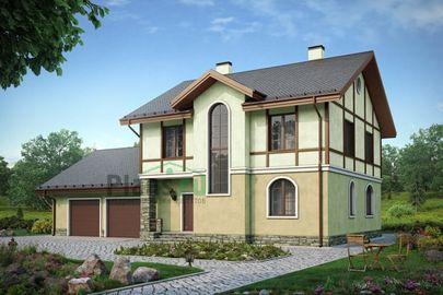 Проект двухэтажного дома 19x14 метров, общей площадью 260 м2, из керамических блоков, c гаражом, котельной и кухней-столовой