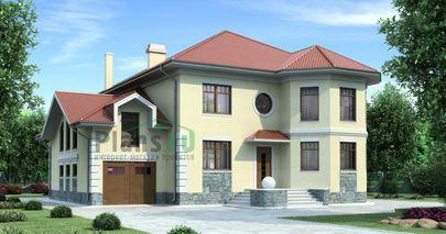 Проект двухэтажного дома 19x16 метров, общей площадью 293 м2, из керамических блоков, c гаражом, зимним садом и котельной