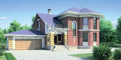 Проект двухэтажного дома 20x16 метров, общей площадью 247 м2, из газобетона (пеноблоков), c гаражом, террасой и кухней-столовой