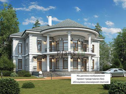 Проект двухэтажного дома 20x17 метров, общей площадью 285 м2, из кирпича, со вторым светом, c террасой, котельной и кухней-столовой