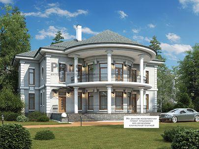 Проект двухэтажного дома 20x17 метров, общей площадью 295 м2, из керамических блоков, c террасой, котельной и кухней-столовой