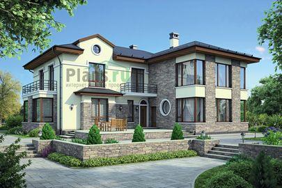 Проект двухэтажного дома 20x17 метров, общей площадью 301 м2, из керамических блоков, со вторым светом, c котельной