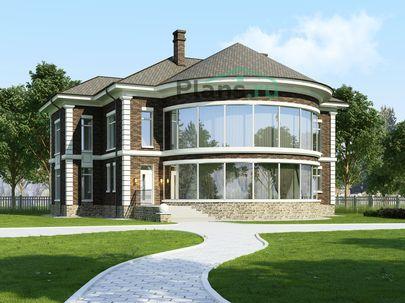 Проект двухэтажного дома 20x17 метров, общей площадью 361 м2, из кирпича, c котельной и кухней-столовой