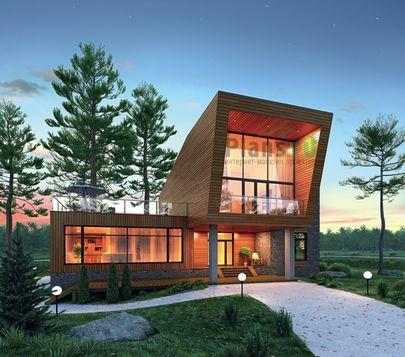 Проект двухэтажного дома 20x18 метров, общей площадью 370 м2, из керамических блоков, c террасой, котельной и кухней-столовой