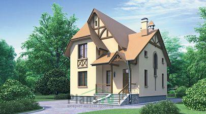 Проект двухэтажного дома 8x11 метров, общей площадью 137 м2, из газобетона (пеноблоков), c котельной