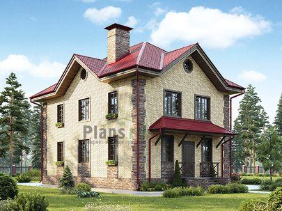 Проект двухэтажного дома 8x12 метров, общей площадью 139 м2, из газобетона (пеноблоков), c котельной и кухней-столовой