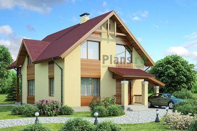 Проект двухэтажного дома 8x9 метров, общей площадью 129 м2, из газобетона (пеноблоков), c кухней-столовой