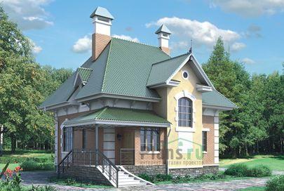 Проект двухэтажного дома 9x12 метров, общей площадью 130 м2, из газобетона (пеноблоков)