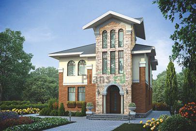Проект двухэтажного дома 9x12 метров, общей площадью 174 м2, из газобетона (пеноблоков), c котельной