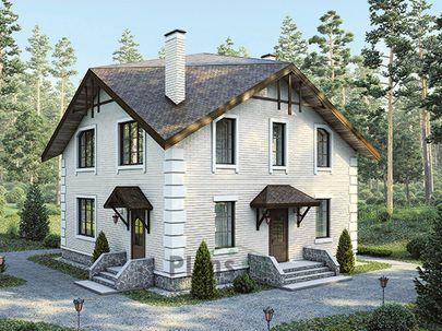 Проект двухэтажного дома 9x9 метров, общей площадью 147 м2, из газобетона (пеноблоков), c котельной и кухней-столовой