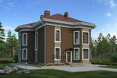 Проект двухэтажного дома с мансардой 13x13 метров, общей площадью 297 м2, из керамических блоков, c котельной и кухней-столовой