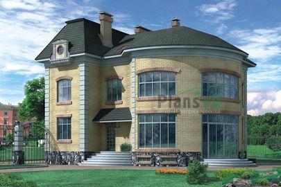 Проект двухэтажного дома с цоколем 12x15 метров, общей площадью 338 м2, из керамических блоков, c бассейном и котельной
