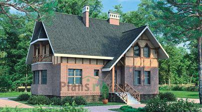 Проект двухэтажного дома с цоколем 15x11 метров, общей площадью 258 м2, из керамических блоков, со вторым светом, c террасой, котельной и кухней-столовой
