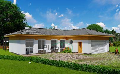 Проект гаража 16x12 метров, общей площадью 126 м2, из газобетона (пеноблоков), c гаражом и котельной