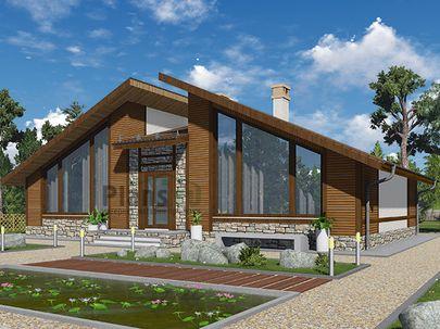 Проект одноэтажного дома 15x10 метров, общей площадью 118 м2, из кирпича, c котельной и кухней-столовой