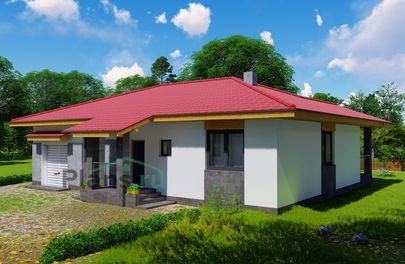 Проект одноэтажного дома 15x10 метров, общей площадью 131 м2, из газобетона (пеноблоков), c террасой, котельной и кухней-столовой