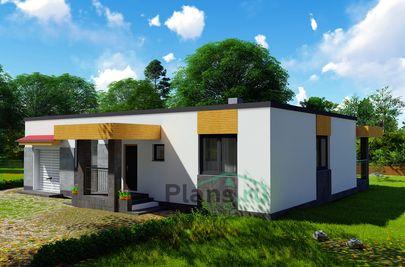 Проект одноэтажного дома 15x10 метров, общей площадью 131 м2, из кирпича, c террасой, котельной и кухней-столовой