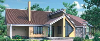 Проект одноэтажного дома 16x13 метров, общей площадью 327 м2, из керамических блоков, c гаражом, зимним садом, террасой и котельной