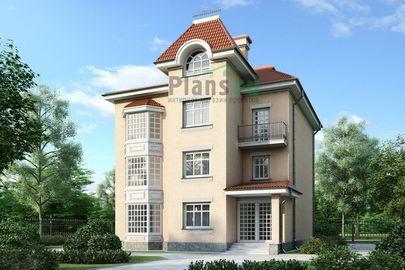 Проект трехэтажного дома 11x15 метров, общей площадью 376 м2, из керамических блоков